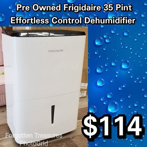 Pre Owned Frigidaire 35 Pint White Dehumidifier With Effortless Humidity Control