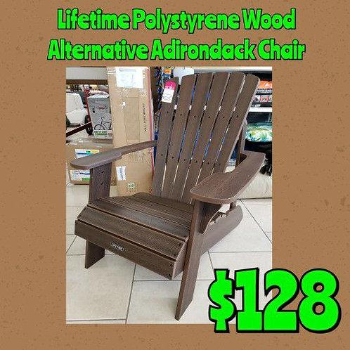 Lifetime Wood Alternative Polystyrene Adirondack Chair