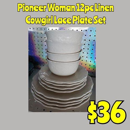 Pioneer Woman 12pc Linen Dish Set