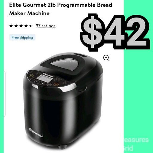 Elite Gourmet 2lb Programmable Bread Maker Machine