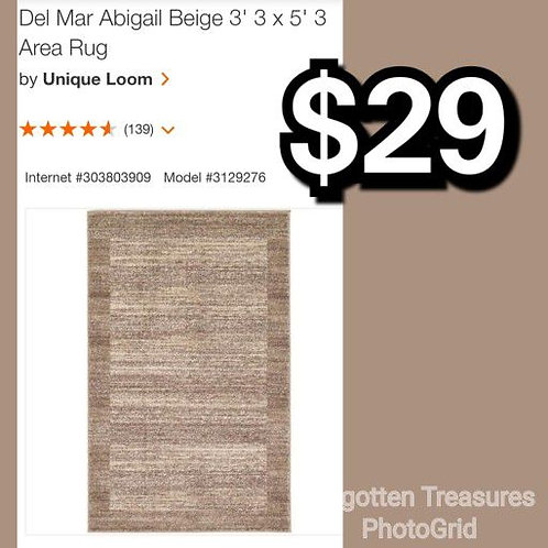 "Del Mar Abigail Beige 3'3"" x 5'3"" Area Rug"