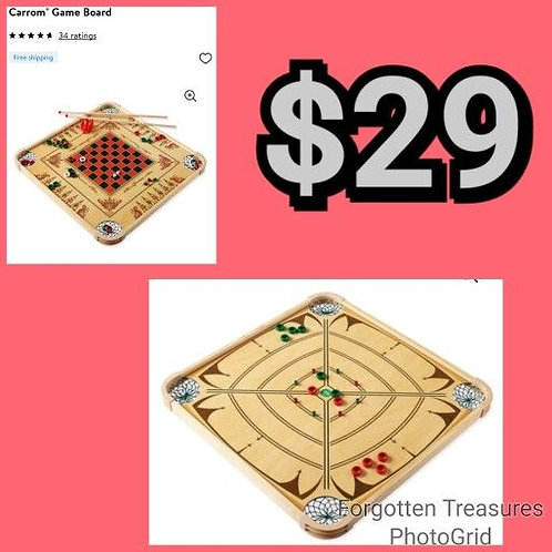 Carrom 100 Game Double Sided Family Games Board
