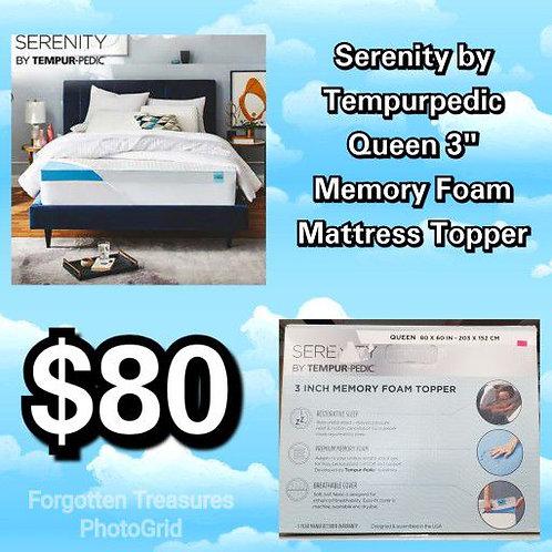 "Serenity by Tempurpedic 3"" Queen Memory Foam Mattress Topper"