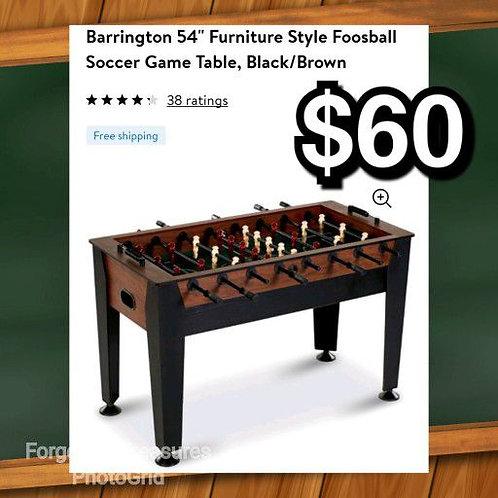 "Barrington 54"" Furniture Style Foosball Soccer Game Table"
