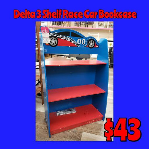 Delta Kids 3 Shelf Race Car Bookcase