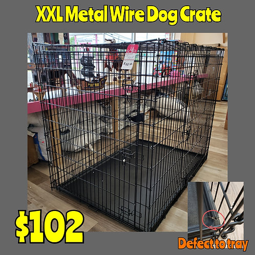 XXL Metal Wire Dog Crate w/ Defect to Tray