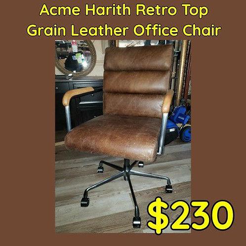 Acme Harlith Genuine Top Grain Leather Retro Office Chair