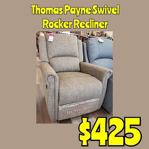 Thomas Payne Upholstered Swivel Rocker Recliner