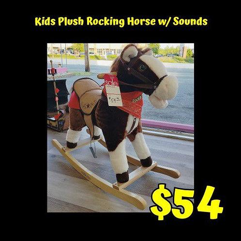 Kids Plush Rocking Horse w/ Sounds