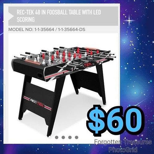 "Rec Tek 48"" Easy Build Foosball Table in Box"