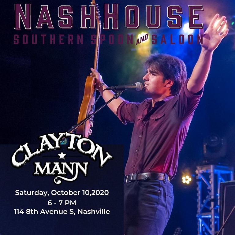 CLAYTON MANN at Nash House Southern Spoon & Saloon