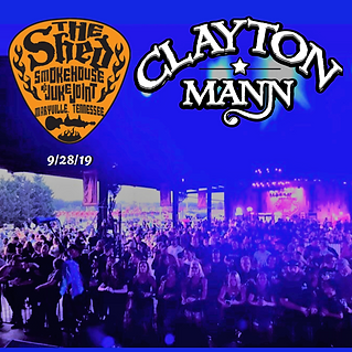 CLAYTON MANN at The Shed, Maryville, TN