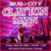 CLAYTON MANN at Bub City Chicago 2020