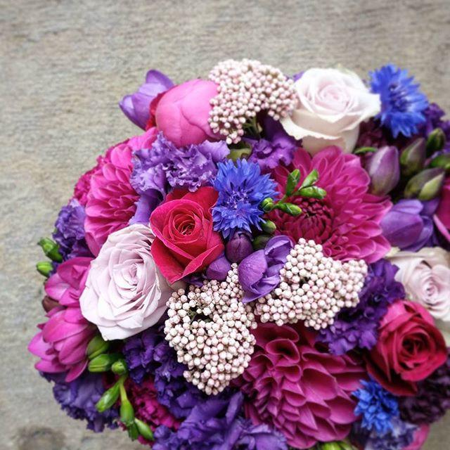 Bouquet de mariée fushia violet Atelier