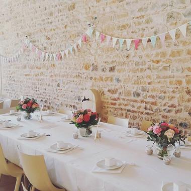 Centre de table bouquet rose