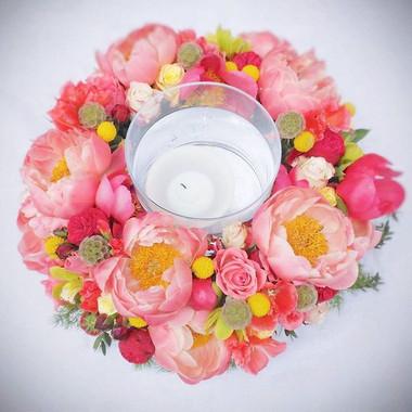 Couronne de fleur photophore cette de ta