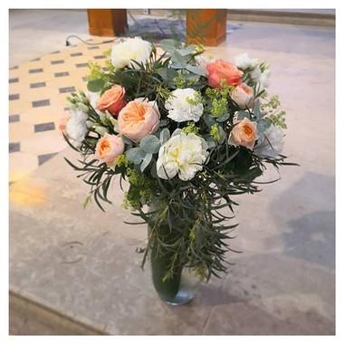 Bouquet d'autel pêche