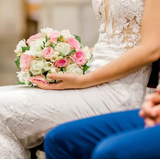 Bouquet de mariée blanc rose Atelier Lav