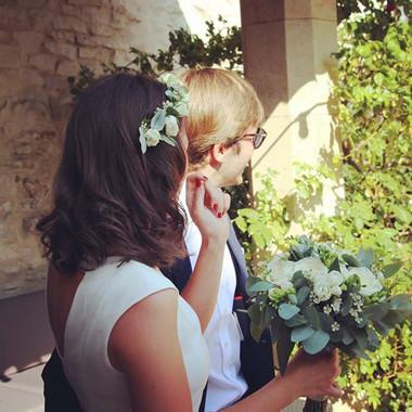 Couronne de fleurs mariée blanche Lyon