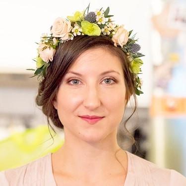Couronne de fleurs mariée Lyon
