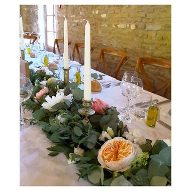 Chemin de table des mariés