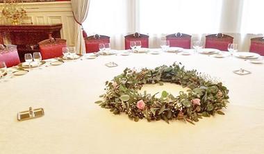 Grande couronne de centre de table