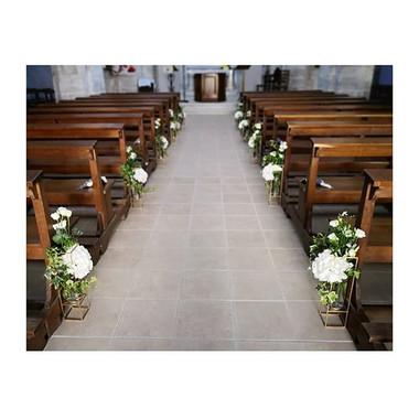 Bout de banc d'église hortensia blanc