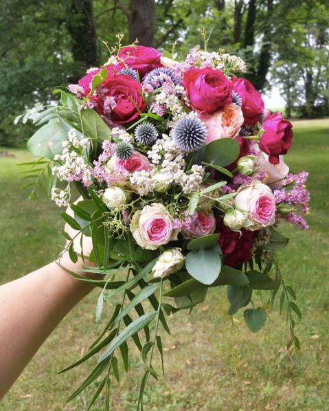 Bouquet de mariée camaïeu rose Atelier L
