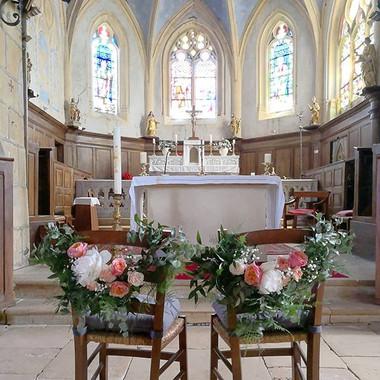 Guirlande de fleur chaise des mariés