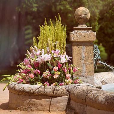 Composition florale bassin
