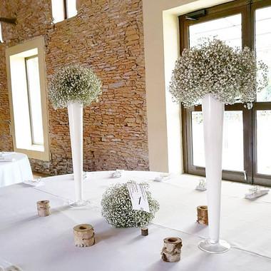 Composition gypsophile centre de table d