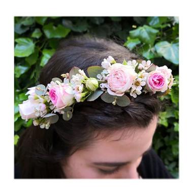 Couronne de fleurs demoiselle d'honneur Lyon