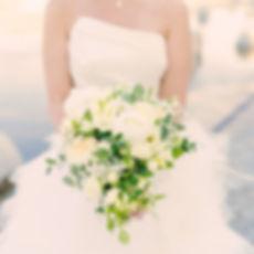 Bouquet de mariée blanc cascade Atelier