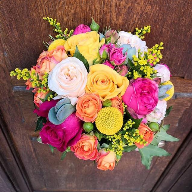 Bouquet de mariée multicolore Atelier La