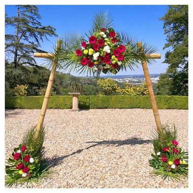 Arche florale tropicale bambou Atelier L
