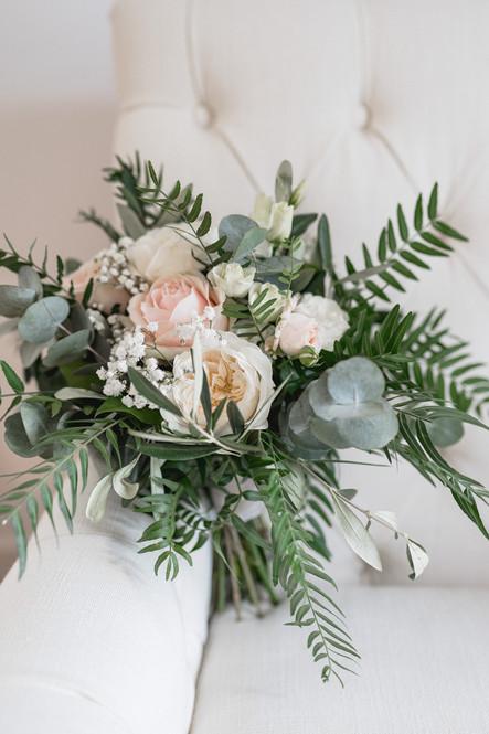 Bouquet de mariée pastel nude. Photograp