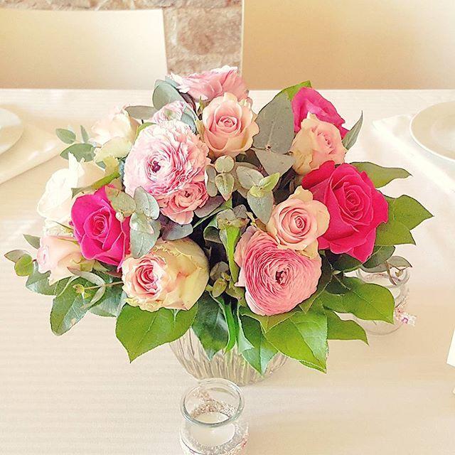Centre de table des mariés 💑 Roses, ren