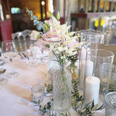 Centre de table rose astilbe