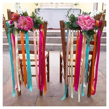 Chaise des mariés tropical