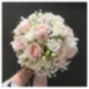 Bouquet de mariée pastel rose rond Ateli