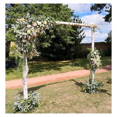 Arche florale bouleau Atelier Lavarenne