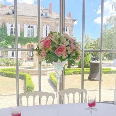 Composition florale mariage centre de ta