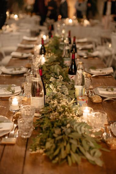 Guirlande chemin de table marié eucalypt