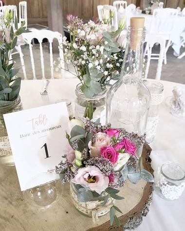 Centre de table mariage soliflore