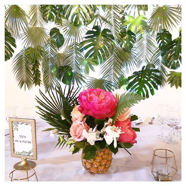 Mur végétal tropical Atelier Lavarenne