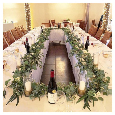 Guirlande eucalyptus centre de table