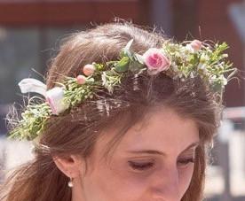 Couronne de fleurs champêtre Lyon