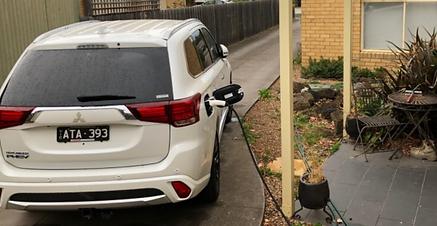 Misubishi Outlander PHEV Zappi electric car charger
