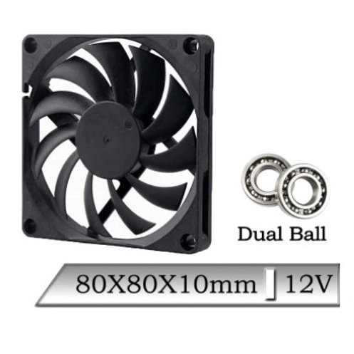 Вентилятор 8010 Gdstime (12/24v) DB/Sleeve