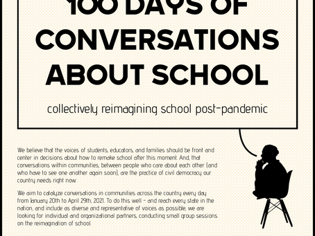 100 Days of Conversations About School Project